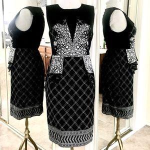 Spiegel Black & White Sheath Dress 4